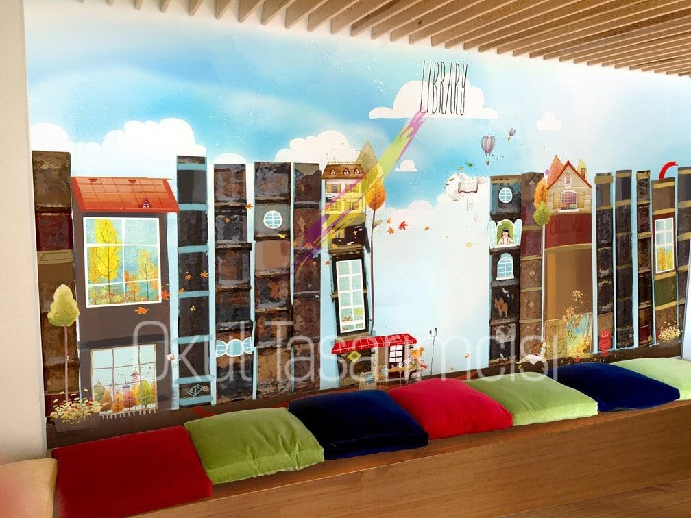 Kutuphane 5   Okul Tasarımcısı   Okul Duvar Posterleri