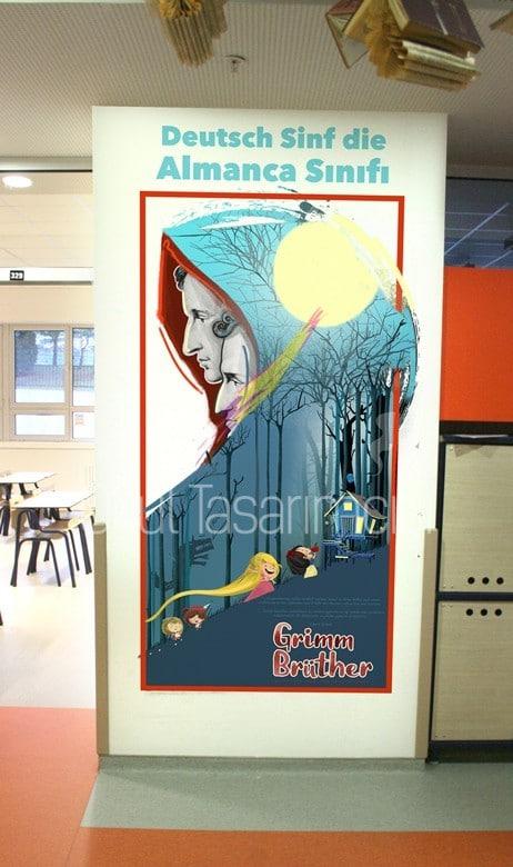 koridor 10   Okul Tasarımcısı   Okul Duvar Posterleri