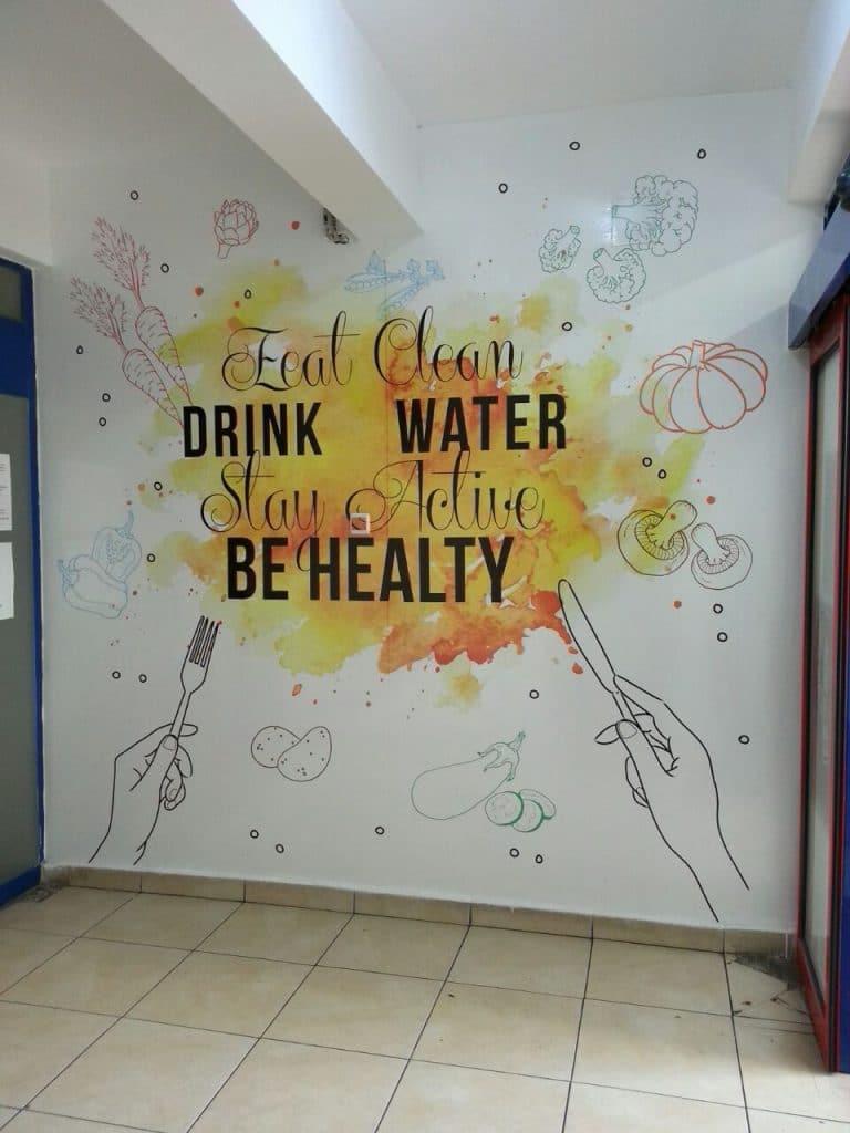 yemekhane 2   Okul Tasarımcısı   Okul Duvar Posterleri