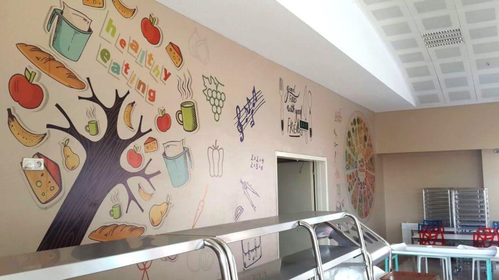 yemekhane 5   Okul Tasarımcısı   Okul Duvar Posterleri