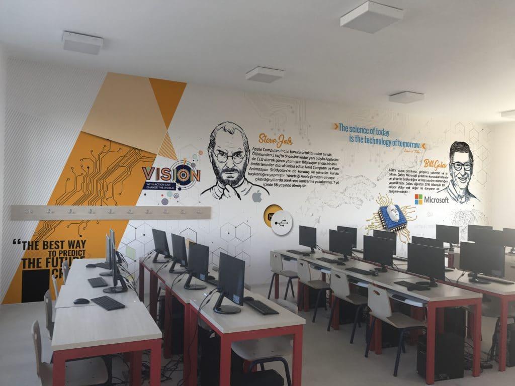 bilgisayar sinifi   Okul Tasarımcısı   Okul Duvar Posterleri